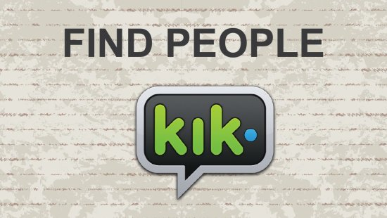 How to find girls on kik messenger