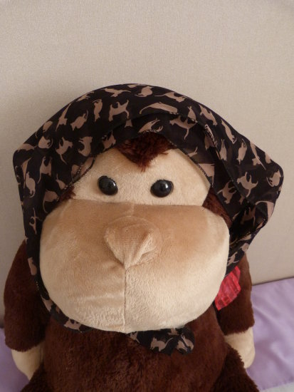 for snappa MISCHEVIOUS MONKEY MODELS MY SCARF!
