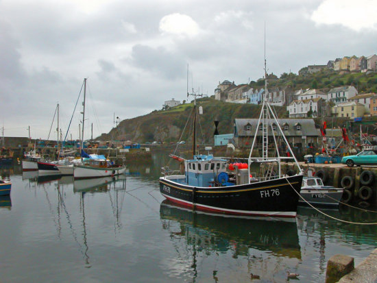 cornwall ship sail harbour water boat coast sea