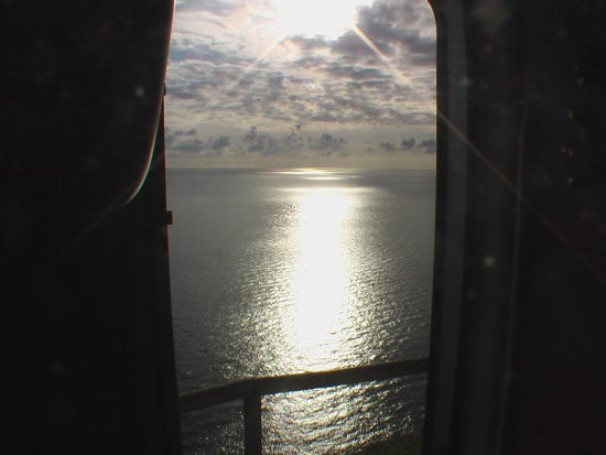 sky and sea .. through the door of mine camper