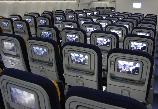 TVs airline seats