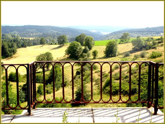 landscape bridge nature summer France fields railway viaduct country