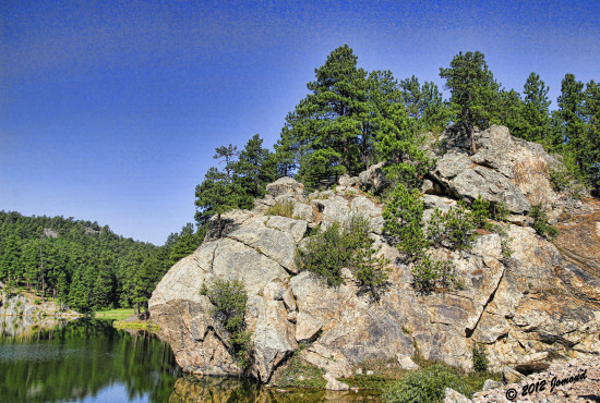 blackhills southdakota landscape lake