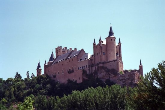 spain segovia architecture castle spaix segox archs casts