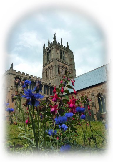 church meltonmowbray fuchsias cornflowers