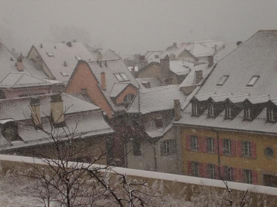 Snow in Nyon, Switzerland