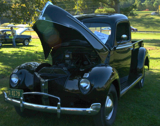 old ford pickup,  i think it was a 1940