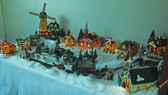 Christmas ornaments village