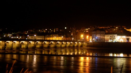bideford river torridge reflection christmas