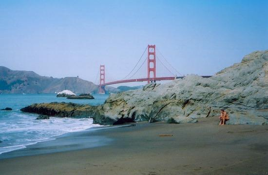 Alone at Baker Beach, 13 Oct 2004