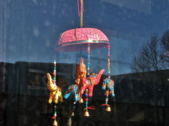 elephants carousel reflections shop window artsfph