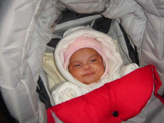 inside stroller winter clothes baby girl