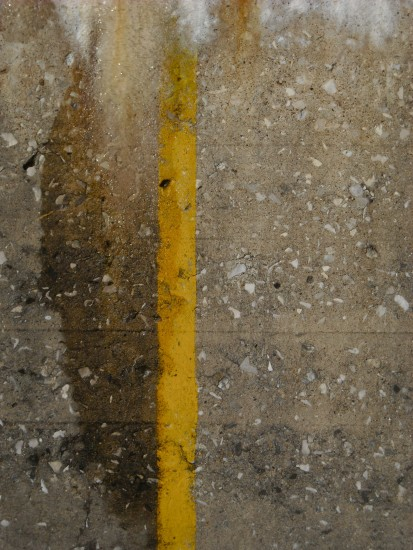 concrete yellow line