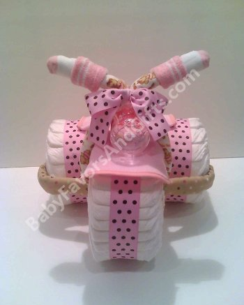 Tricycle Diaper Cake for baby Girl