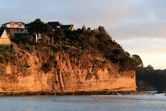 orewabeach orewa beach sunrise cliff