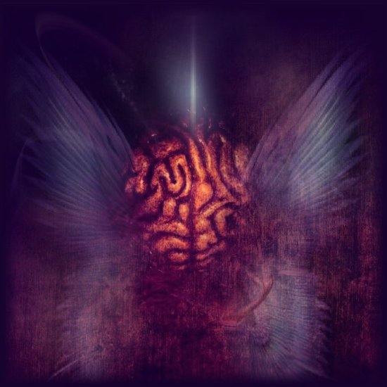 human brain abstract art series dark wings light surreal my manipulation keit
