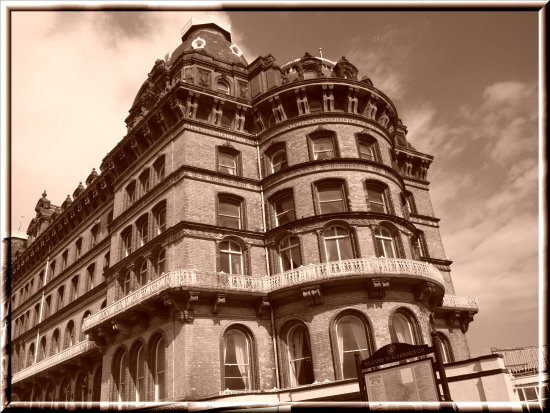 hotel Scarborough sepia