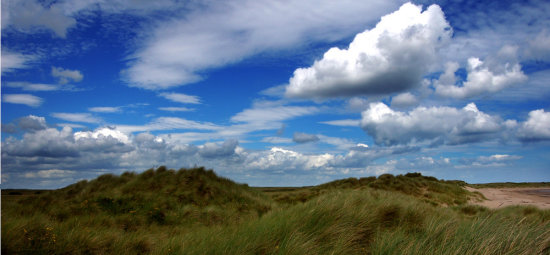 Sea Sand Sand Dunes Sun Sky Clouds Seascape Grass