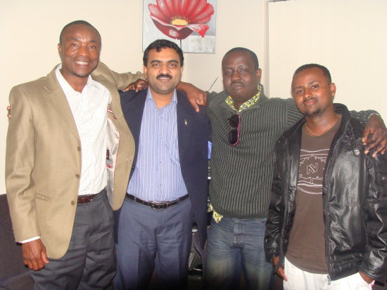 DrMalik with African friends