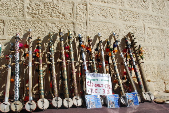 Musical Instruments on Sale for Tourists