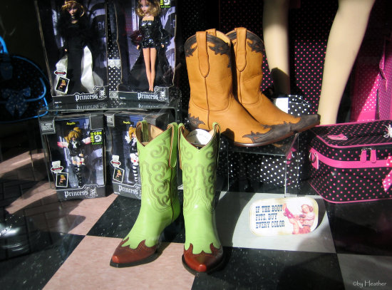 it the shoe fits, buy every color!  for a cosmic cowboy I know :)  compulsive uploading 1/2
