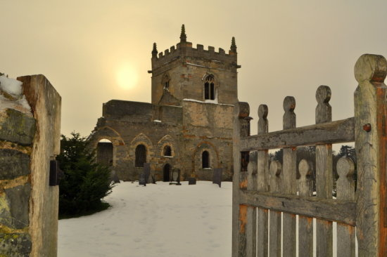 Church gate snow