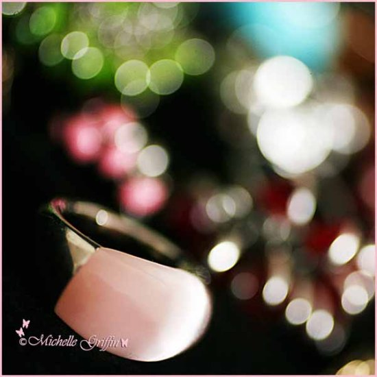 ring pink bokeh sparkley jewellery