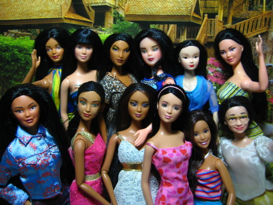 barbie dolls asian