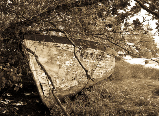 Brittany France old boat sea wood Finistre