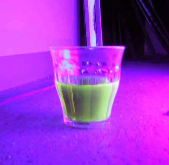 After feeding me the rocket fuel, my brother came with this power drink: Liquid Radio Activity!