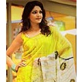 Blouse with Saree Crepe Faux Yellow