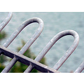 railing fence iron grey metal abstract minimal