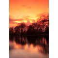 Landscape Platt Field Park UK Manchester England Sunset Reflections Long Expo