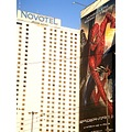 Warsaw Poland novotel hotel street advert spiderman
