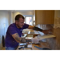 Son in law, Lee, kindly came and re-tiled our kitchen for us. He did a great job. Photos of the f...