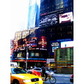 new york times square yellow taxi america