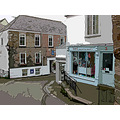 0147 Cornwall Manipulated Fowey UK Street Road Shop