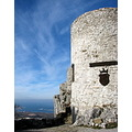Ruins of castle Socerb�perched on Karst rock.