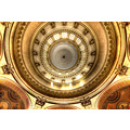 'Neck Ache - but worth it!': Detail of the Dome in the Basilica Notre-Dame in Boulogne-sur-Mer.