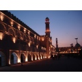 Punjab Pakistan Lahore Mosque Building Night Light Beautiful