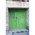 spain landscape village town house detail door