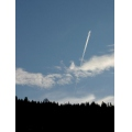 plane contrail clouds sky bc canada