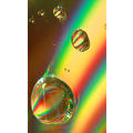 Water droplets refracted light