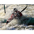 Wild water canoe slalom at Holme Pierrepont Nottingham