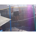 man trampoline bounce fun