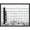 snow fence field barbed wire