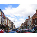 Pershore Holiday England busy street traffic people