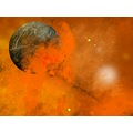 spaceart space digiart digital blast orange