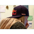 girl teenager hair blonde hat cap