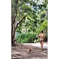 Another park goer and her two puppies.  Lucky you come Hawaii, puppies